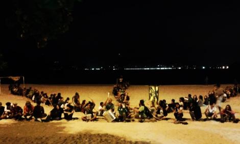 marcha folha praia