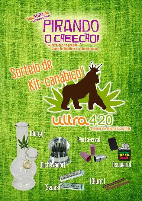 cartaz promocional festa pirando o cabeção utraeco ultra420