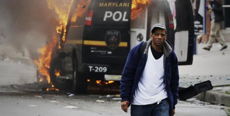 Protestos em Baltimore | Foto: Matt Rourke